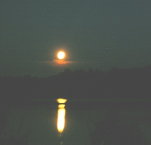 Moon Over Lake Mack