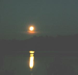 Moon Over Lake Mack